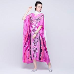 花灿民族风印花连衣裙